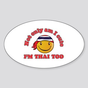 Cute and Thai Sticker (Oval)