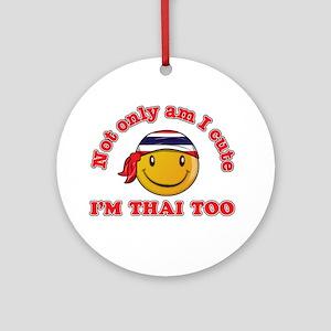 Cute and Thai Ornament (Round)