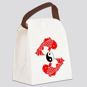 Yin Yang Koi Canvas Lunch Bag