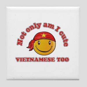 Cute and Vietnamese Tile Coaster