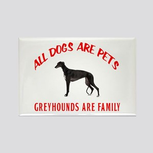 GREYHOUND FAMILY Rectangle Magnet