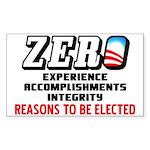 """Zero: Barack Obama"" Sticker (Rectangle)"