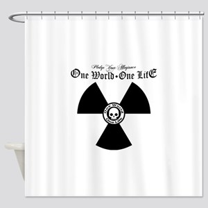 One World One Life Allegiance Shower Curtain