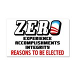 """Zero: Barack Obama"" Car Magnet 20 x 12"