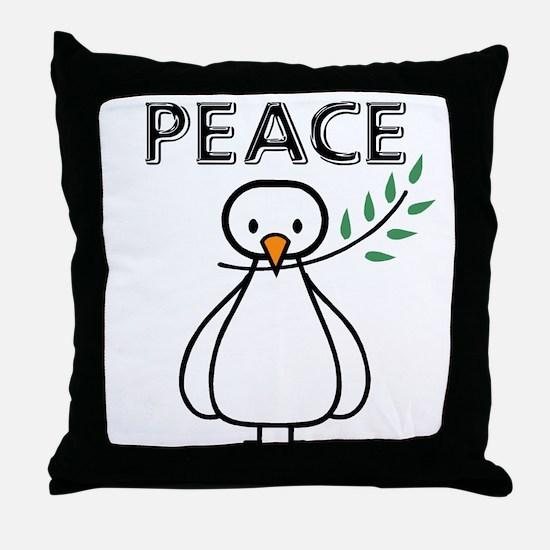 White Dove Peace Throw Pillow