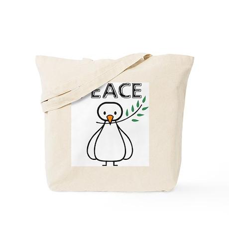 White Dove Peace Tote Bag