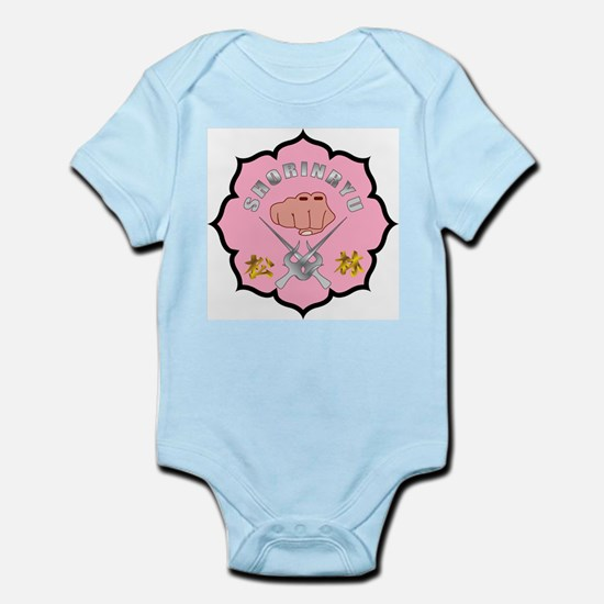 Breast Cancer Shorin-Ryu Logo Infant Bodysuit