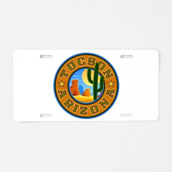 Tucson Desert Circle Aluminum License Plate