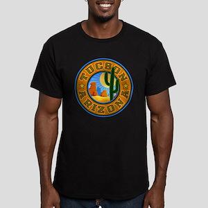 Tucson Desert Circle Men's Fitted T-Shirt (dark)