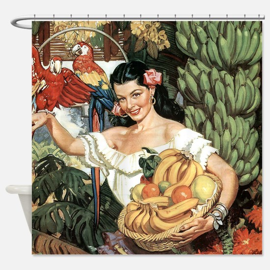 Vintage Mexico Shower Curtain