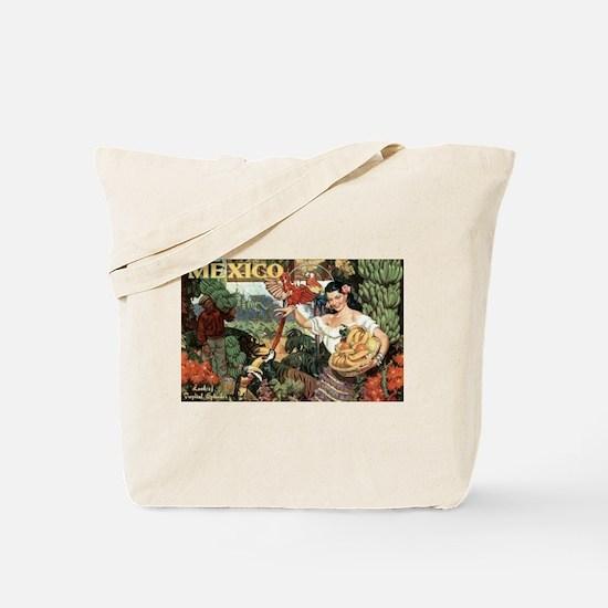 Vintage Mexico Tote Bag