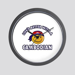 Lifes better with a Cambodian Wall Clock
