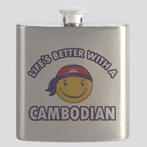 Lifes better with a Cambodian Flask