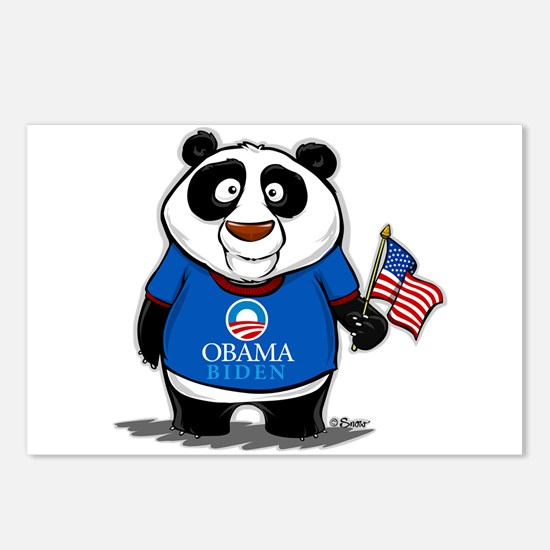 Panda Politics for Obama Postcards (Package of 8)