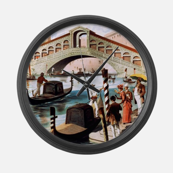Vintage Venice Large Wall Clock