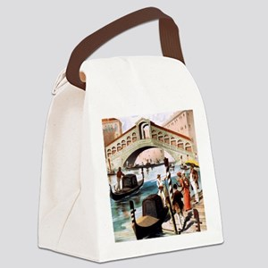 Vintage Venice Canvas Lunch Bag