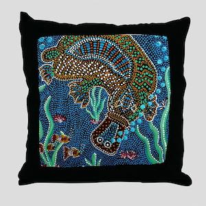 Platypus Adventure Throw Pillow