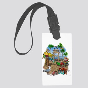 Parrot Beach Shack Large Luggage Tag