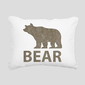 Vintage Bear Rectangular Canvas Pillow