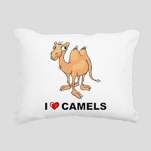 I Love Camels Rectangular Canvas Pillow