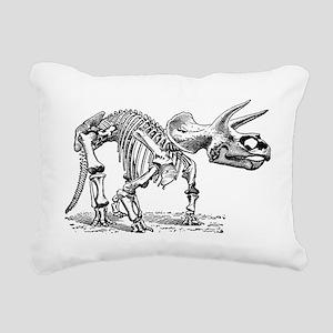 Triceratops Skeleton Rectangular Canvas Pillow