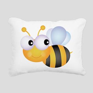 Cute Bee Rectangular Canvas Pillow