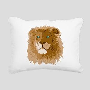 Realistic Lion Rectangular Canvas Pillow