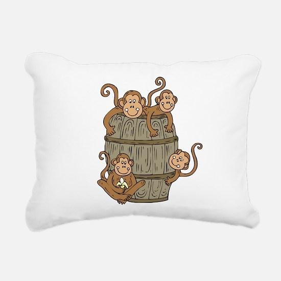 Barrel Monkey Rectangular Canvas Pillow