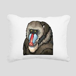 Baboon Rectangular Canvas Pillow