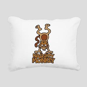 Naughty Monkey Rectangular Canvas Pillow