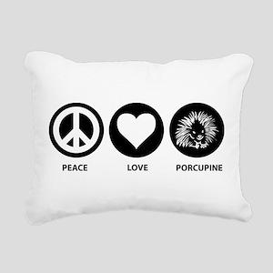 Peace Love Porcupine Rectangular Canvas Pillow