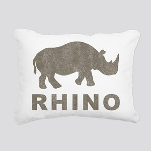 Vintage Rhino Rectangular Canvas Pillow