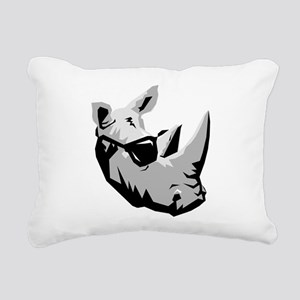 Cool Rhinoceros Rectangular Canvas Pillow