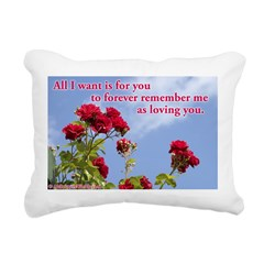 &Quot;Loving You&Quot; Rectangular Canvas Pillow