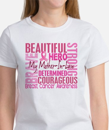 Tribute Square Breast Cancer Women's T-Shirt