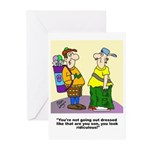 Golf cartoon Greeting Cards (Pk of 10)