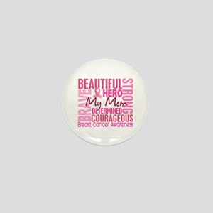 Tribute Square Breast Cancer Mini Button