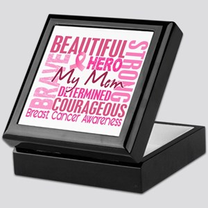 Tribute Square Breast Cancer Keepsake Box