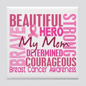 Tribute Square Breast Cancer Tile Coaster