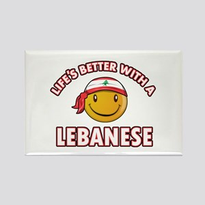 Lifes better with a Lebanese Rectangle Magnet