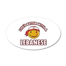 Lifes better with a Lebanese Wall Decal