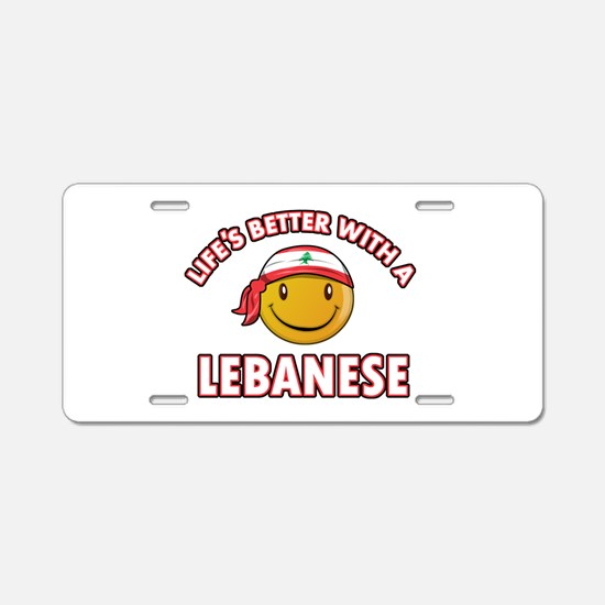 Lifes better with a Lebanese Aluminum License Plat