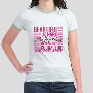Tribute Square Breast Cancer Jr. Ringer T-Shirt