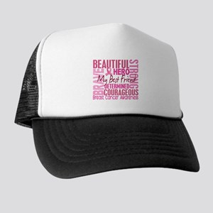 Tribute Square Breast Cancer Trucker Hat