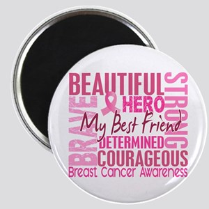 Tribute Square Breast Cancer Magnet