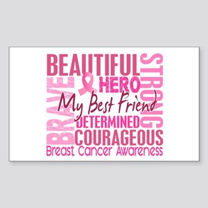 Tribute Square Breast Cancer Sticker (Rectangle)