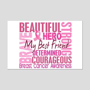 Tribute Square Breast Cancer Mini Poster Print
