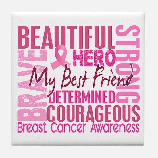 Tribute Square Breast Cancer Tile Coaster