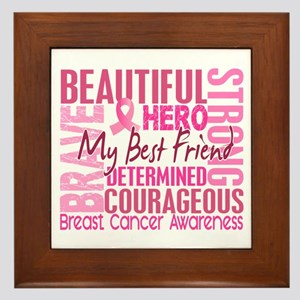 Tribute Square Breast Cancer Framed Tile