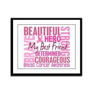 Tribute Square Breast Cancer Framed Panel Print